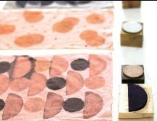 Vegetable dyes and stamp printing