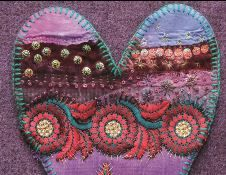 Indian embroidered silk hear