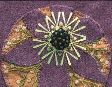 Embroidered flower circle